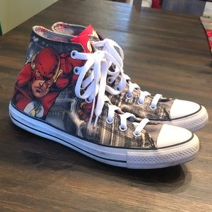 Converse DC Comics Flash Hi-Top Sneakers